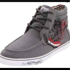 Don Ed Hardy 11 gray pasific high top sneakers